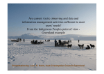 Are current Arctic observing and data and information management