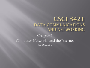 CSCI 3421 Data communications and Networking