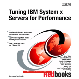 Tuning IBM System x Servers for Performance