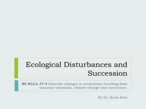Ecological Disturbances and Succession