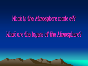 Layers of the Atmosphere - ms. Clayton`s 7th grade Science