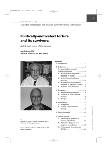 Politically-motivated torture and its survivors