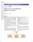Inborn Errors of Metabolism: Disorder of Adults?
