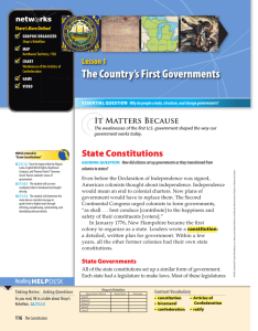 The Country`s First Governments - McGraw-Hill