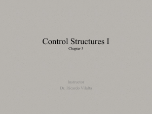 What is a Control Structure? - Department of Computer Science