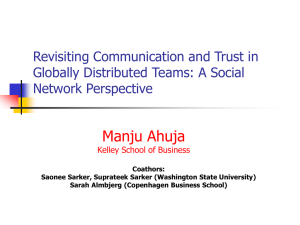 Revisiting Communication and Trust in Virtual Teams: A Social