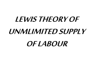 Lewis theory of unlimited supply of labour