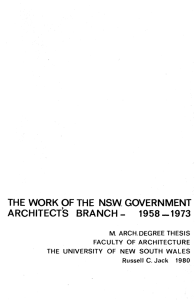 the work of the nsw government architect`s branch