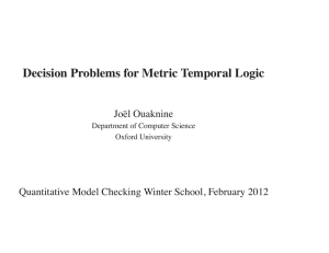 Decision Problems for Metric Temporal Logic