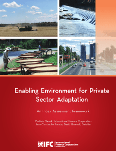 Enabling Environment for Private Sector Adaptation