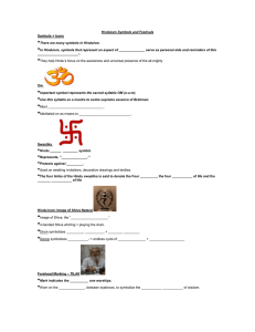 Hinduism Symbols and Festivals fill in the blank sheet
