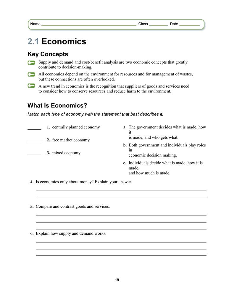 Lesson 2.1 Worksheet
