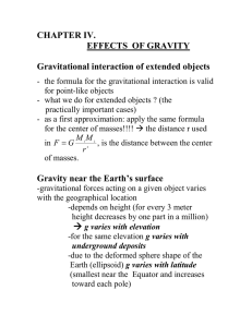 Gravitational interaction of extended objects