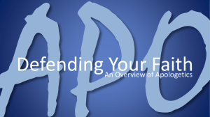 Apologetics Week 3 PPT - Community at Discovery