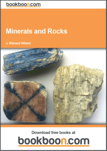 Minerals and Rocks - The University Digital Library