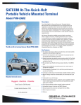 SATCOM At-The-Quick-Halt Portable Vehicle Mounted Terminal