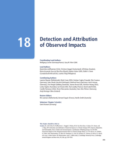 Detection and Attribution of Observed Impacts
