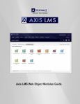 Axis LMS Web Object Modules Guide