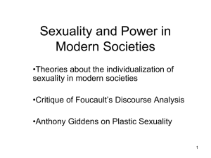 Sexuality and Power in Modern Societies
