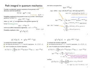 Path integral in quantum mechanics