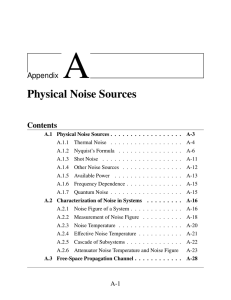 Physical Noise Sources