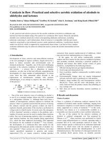 Practical and selective aerobic oxidation of alcohols to