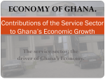 Contribution of the service sector to economic growth