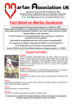 Fact Sheet on Marfan Syndrome