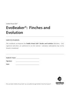 SimBio Virtual Labs® EvoBeaker®: Finches and Evolution