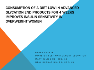 Consumption of a Diet Low in Advanced Glycation End Products for