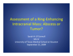 Assessment of a Ring-Enhancing Intracranial Mass