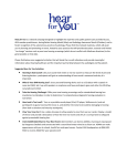 Hear for You is a national campaign designed to highlight the