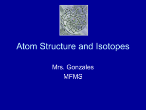Atom Structure and Isotopes