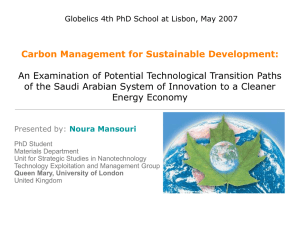 Carbon Management for Sustainable Development: The Case Study