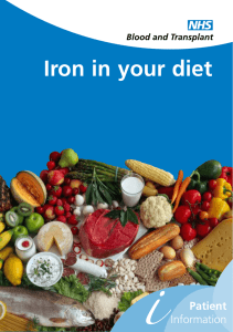 Iron in your diet - South Tees Hospitals