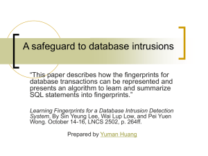Learning Fingerprints for a Database Intrusion Detection System