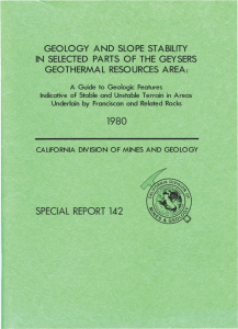 Special Report 142, 1980. Geology and Slope Stability in Selected