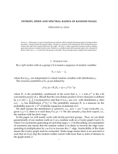 ENTROPY, SPEED AND SPECTRAL RADIUS OF RANDOM WALKS