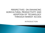 Perspectives on Enhancing Agricultural Productivity