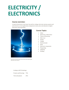 ELECTRICITY / ELECTRONICS
