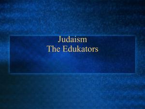 Judaism The Edukators