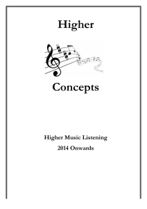 Higher Concepts - Dunblane High School Music Website
