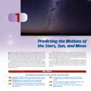 Predicting the Motions of the Stars, Sun, and Moon