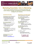 Marketing Essentials: Intro to Marketing