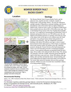 monroe border fault, bucks county