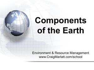 Components of the Earth