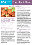 Plant Stanols And Sterols - British Dietetic Association