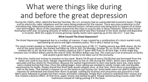 What were things like during and before the great depression