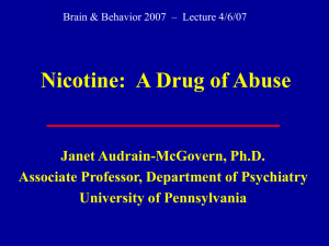 Nicotine - Department of Psychiatry