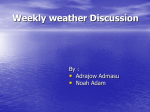 Weakly weather Discussion